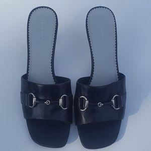 Liz Claiborne Sandals Leather Flex (9m) NICE!
